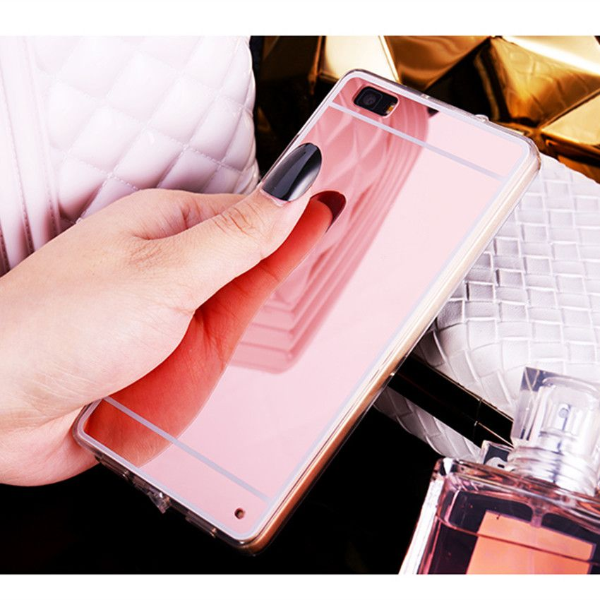 Hot Luxury Mirror Electroplating Soft Clear Tpu Case Cover For Huawei P8 P8 Lite Br Hot Luxury Mirror P8 Lite Huawei P8 Accesorios Para Telefono