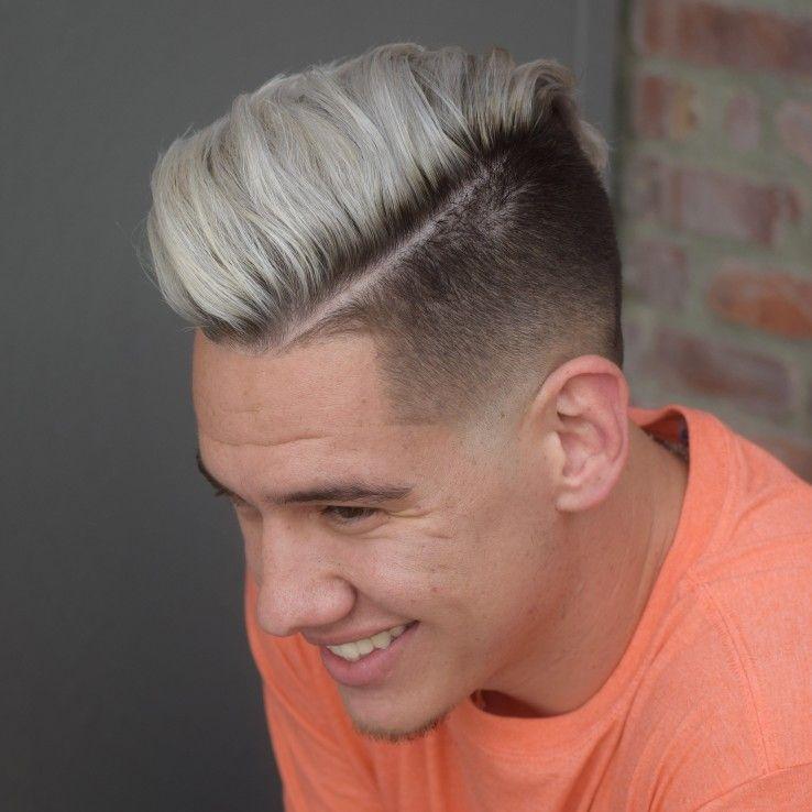 Men S Hair Highlights Platinum Blonde Balayage Men Hair Highlights Hair Highlights Platinum Blonde