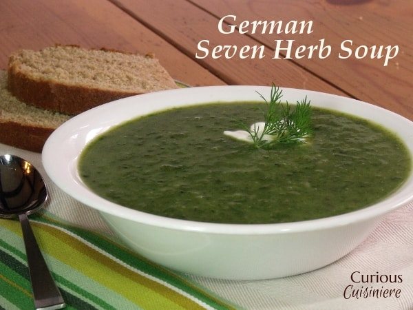 Photo of German Seven Herb Soup • Curious Cuisiniere