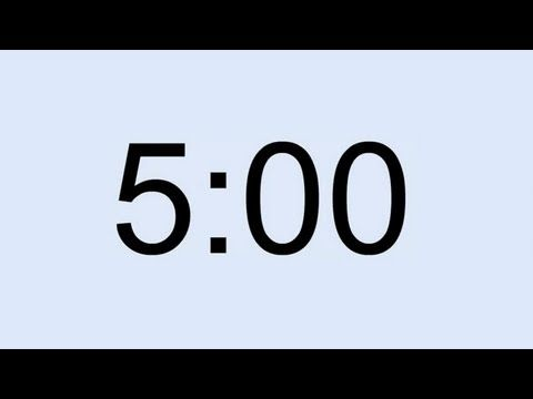 5 minute timer - YouTube timers Pinterest