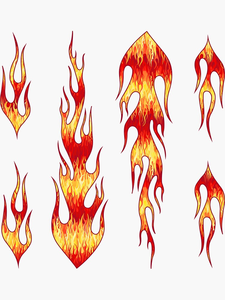 Flames Pattern Red Sticker By Wickedrefined Redbubble Stickers Flames Fire Red Hotrod Wickedrefined Giftideas Flame Art Hotrod Flames Flames
