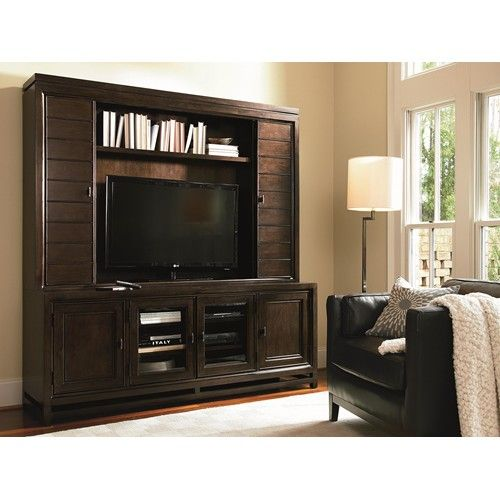 Latitude Wall Entertainment Console and Hutch with Bi-Fold Doors by ...