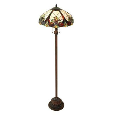 Chloe Lighting Ch18780fl 2 Light Victorian Floor Lamp Floor Lamp Indoor Floor Lamps Stained Glass Lighting