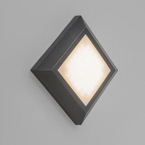 Aplique Gem 1 Gris Oscuro Iluminacion Exterior Apliques Y Focos
