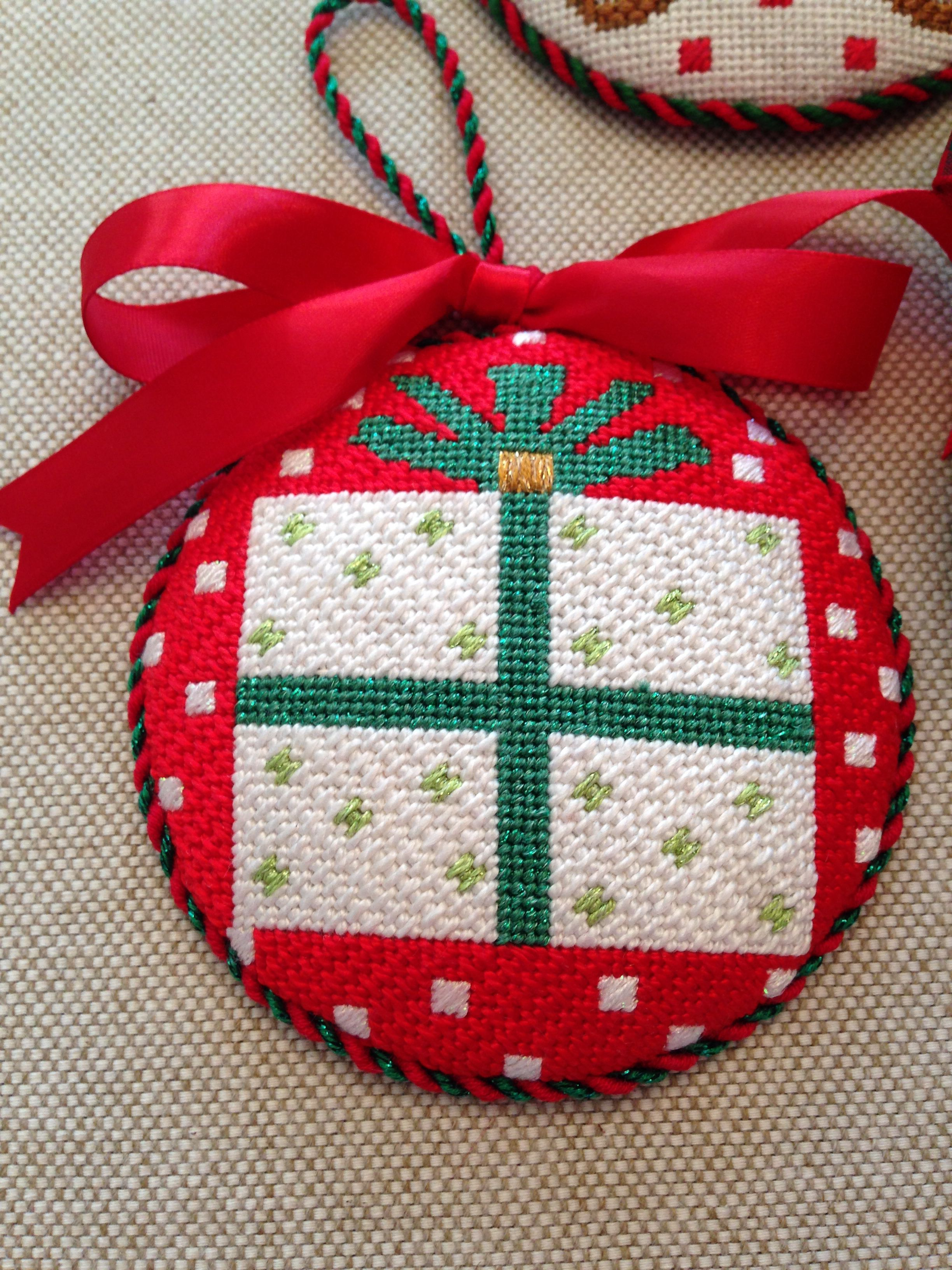 Present Ornament  ~ canvas by Melissa Shirley