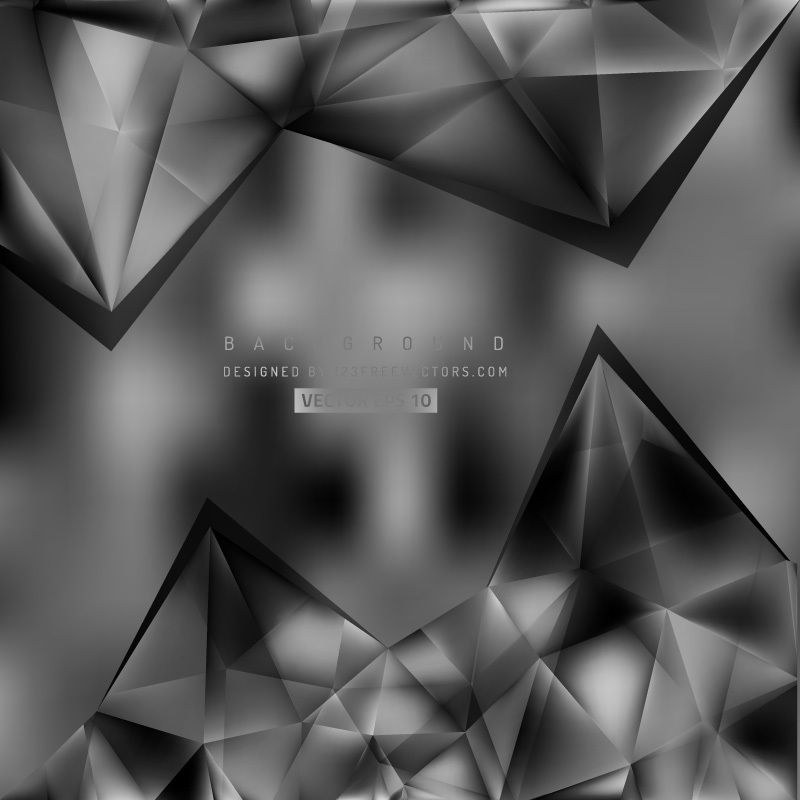 Abstract Black And Gray Polygonal Triangular Background Abstract