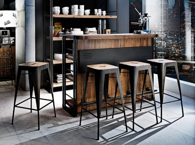shopping quel tabouret de bar pour ma cuisine d co industrielle industrial decor. Black Bedroom Furniture Sets. Home Design Ideas