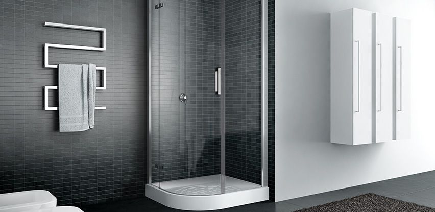 disenia quadro cabine de douche arrondie semi circulaire avec porte pivotante salles de bains. Black Bedroom Furniture Sets. Home Design Ideas