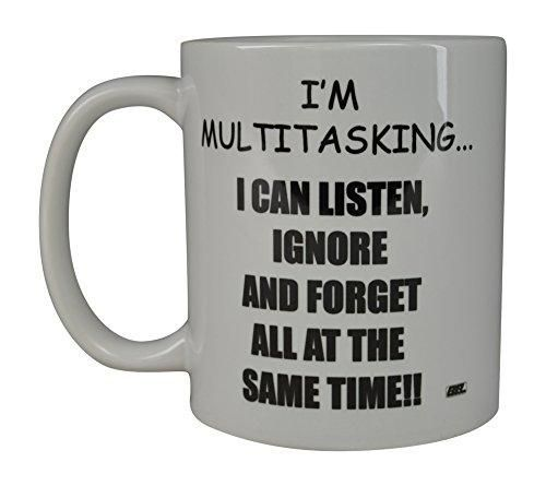 Rogue River Funny Coffee Mug I'M Multitasking Novelty Cup Great Gift Idea For Office Party Employee Boss Coworkers (I'M Multitasking) #bossesdaygiftideasoffices