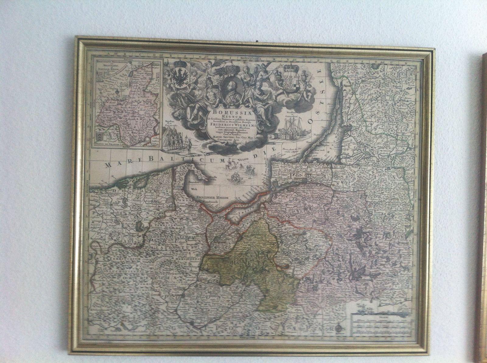 Karte Ostpreußen.Matthäus Seutter Historische Karte Von Ostpreussen Und Westp