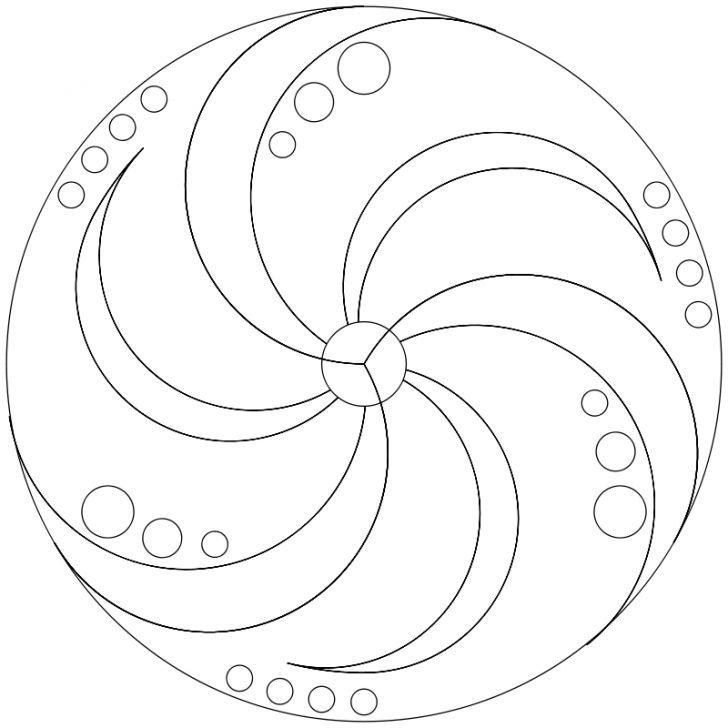 Mandala-Ausmalbild Nr. 51