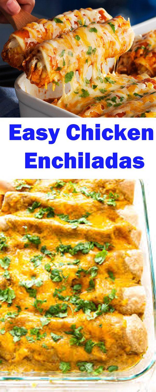 Best Ever Chicken Enchiladas Recipe Easy Simple Creamy Shredded Recipe Recipe Chicken Enchilada Recipe Easy Enchilada Recipe Easy Chicken Enchilada Recipe