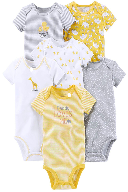 Simple Joys by Carters Baby Girls 6-Pack Short-Sleeve Bodysuit