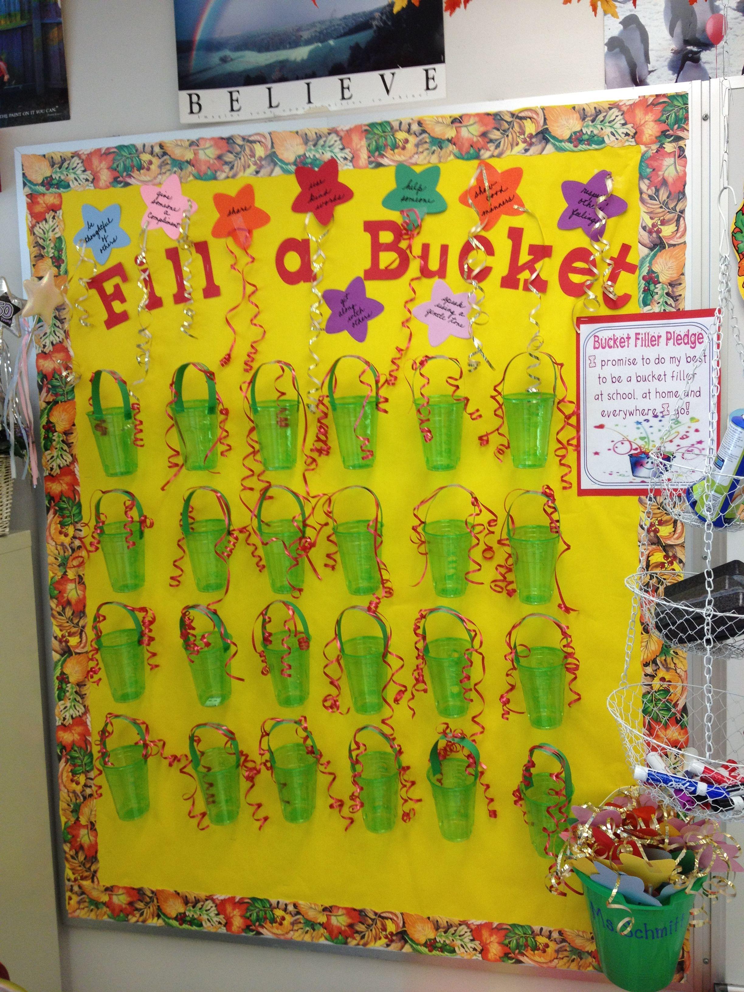 Classroom Reinforcement Ideas ~ Fill a bucket positive reinforcement use cups instead of