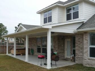 covered patio, houston, backyard, | Custom Patio Covers | Pinterest ...