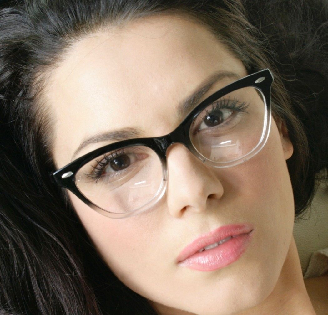 6d0b868c51 Fashion New Gradient Black   Clear Cat Eye Frame Women s Eyeglasses Clear  Lenses. My grandpa had a pair like these in the 60 s  )