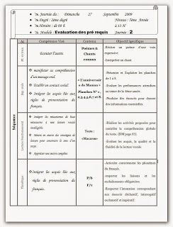 Evaluation Des Prerequis 5eme Annee Journal Notebook