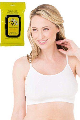 53ebe3f44b Bundle 2 Items Ingrid Isabel Nursing Cami Sleep Bra White M BellaB  Breastwipes    Visit