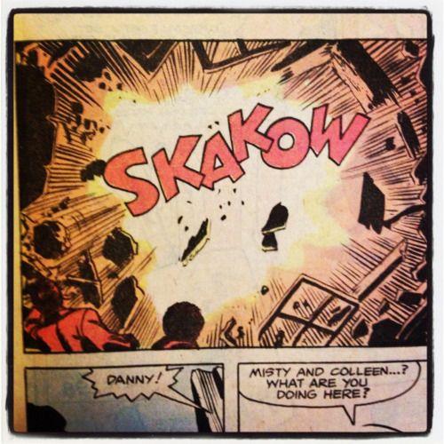 """Eller som vi säger på svenska, """"pang"""". – Power Man and Iron Fist #57 1979."""