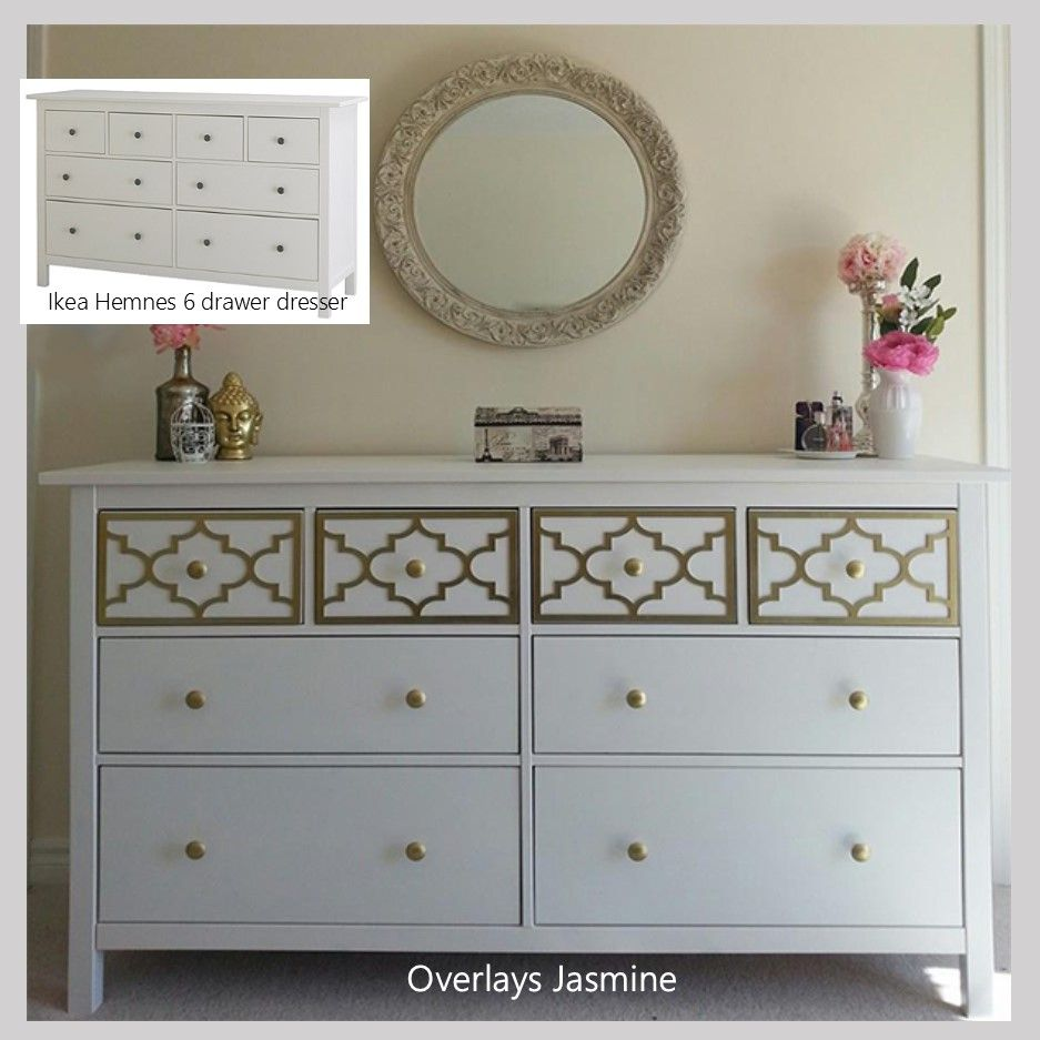 Overlay Jasmine Kit For Top Drawer Only Of Ikea Hemnes 8 Dresser This Is A Perfect Alternative To All The Pricey Pieces I Ve Seen