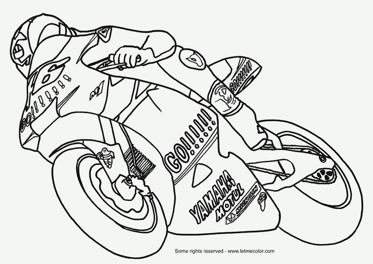 Coloring Page Moto Gp With Images Coloring Pages