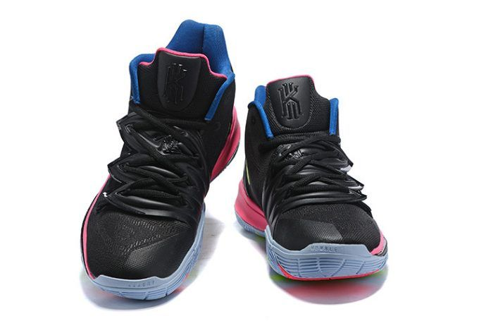 "9595701b4d3b Nike Kyrie 5 ""Just Do It"" Black Pink-Blue Shoes in 2019"