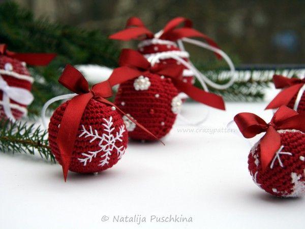 Weihnachtskugeln selber häkeln - DIY-Deko ☆ | Bastelideen NZ ...