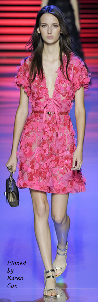 Spring 2016 Elie Saab Ready to Wear - pink cocktail dress