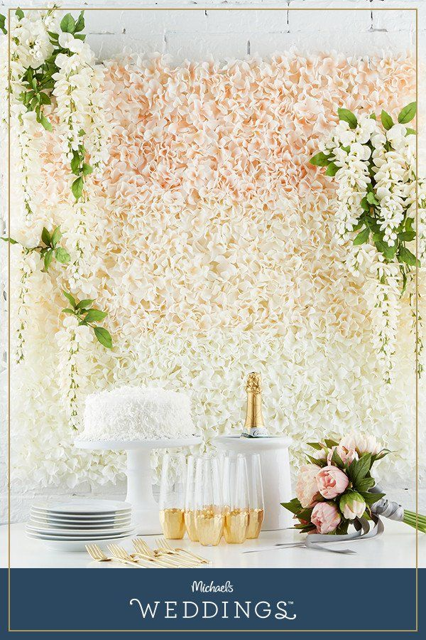 Floral Tile Wedding Backdrop Michaels Weddings Pinterest
