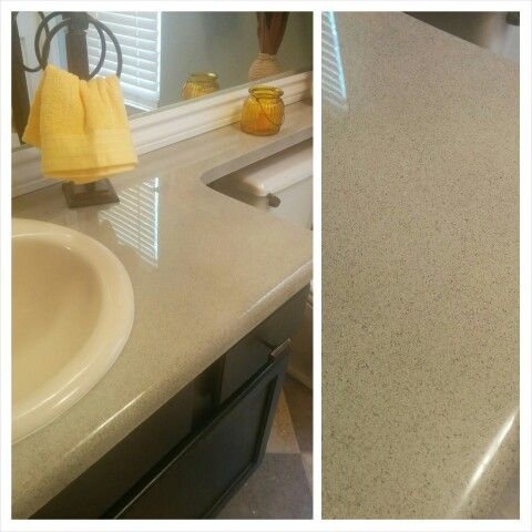 Countertops Refinished With Rustoleum Stone Effects Spraypaint And Sealed With Envirotex Lite Countertops Diy
