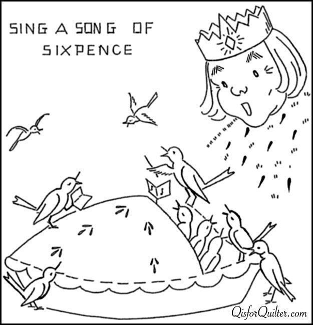 Vintage Embroidery Patterns More Nursery Rhymes Embroidery