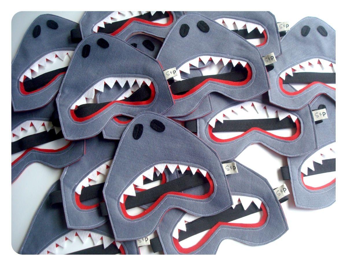 Felt shark mask Shark costumes, Shark mask, Mask for kids