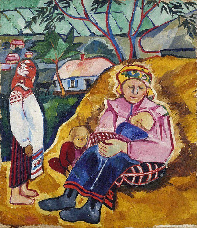 Mother Natalia Goncharova Date Unknown Art Abstrait Art Images De Maternite