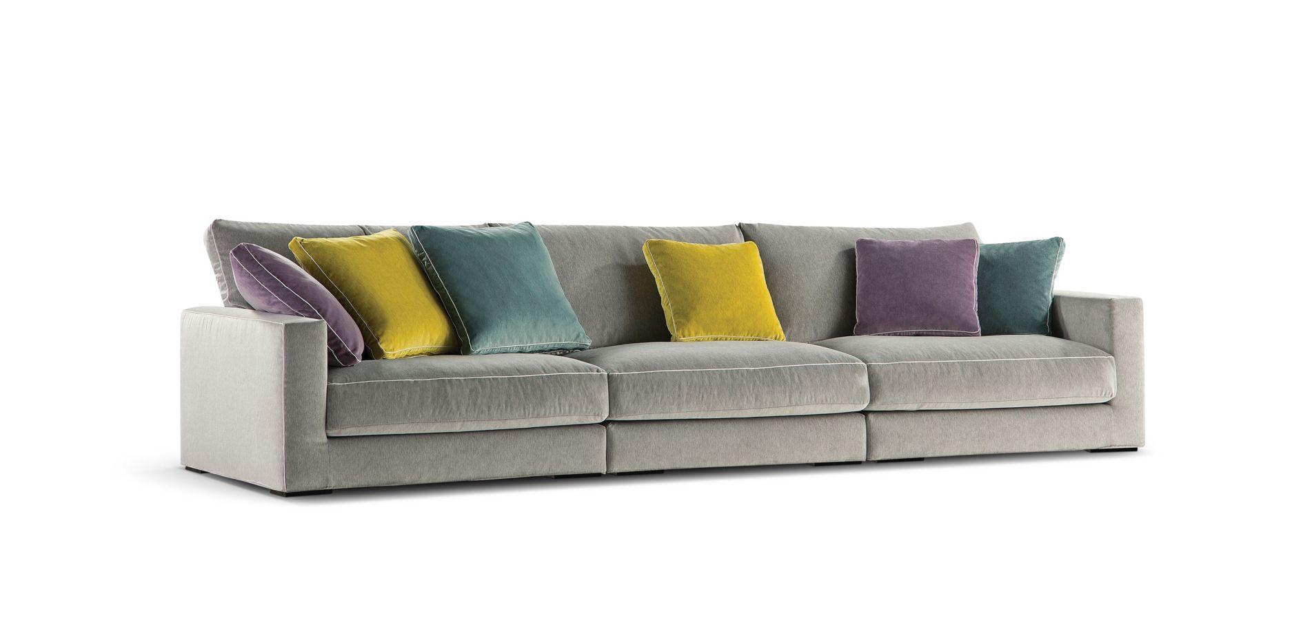 Long island straight composition sofas nouveaux for Chaise longue roche bobois