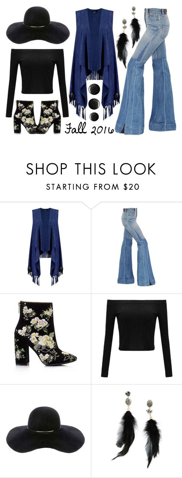 """The Bohemian Way - Fall 2016"" by latoyacl ❤ liked on Polyvore featuring Boohoo, Roberto Cavalli, Miss Selfridge, Eugenia Kim and Betsey Johnson"