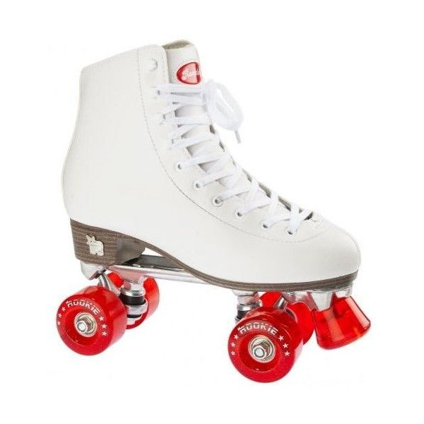 Rookie Classic Roller Skates White Red ❤ liked on Polyvore featuring shoes, rollerskates and filler