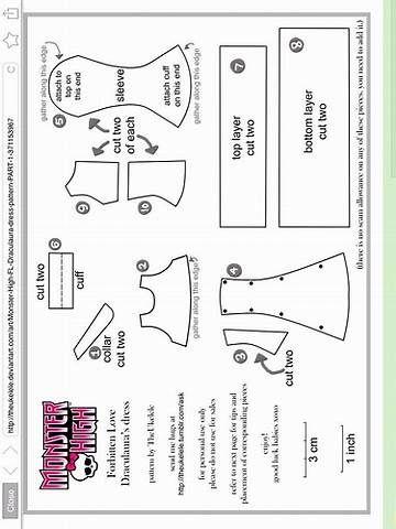Resultado de imagem para Free Printable Monster High Doll Clothes ...