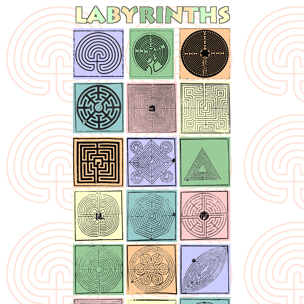 Labyrinth Patterns The One Top Middle Has A Branching Junction Circuit Classical From 5circuit Chartres