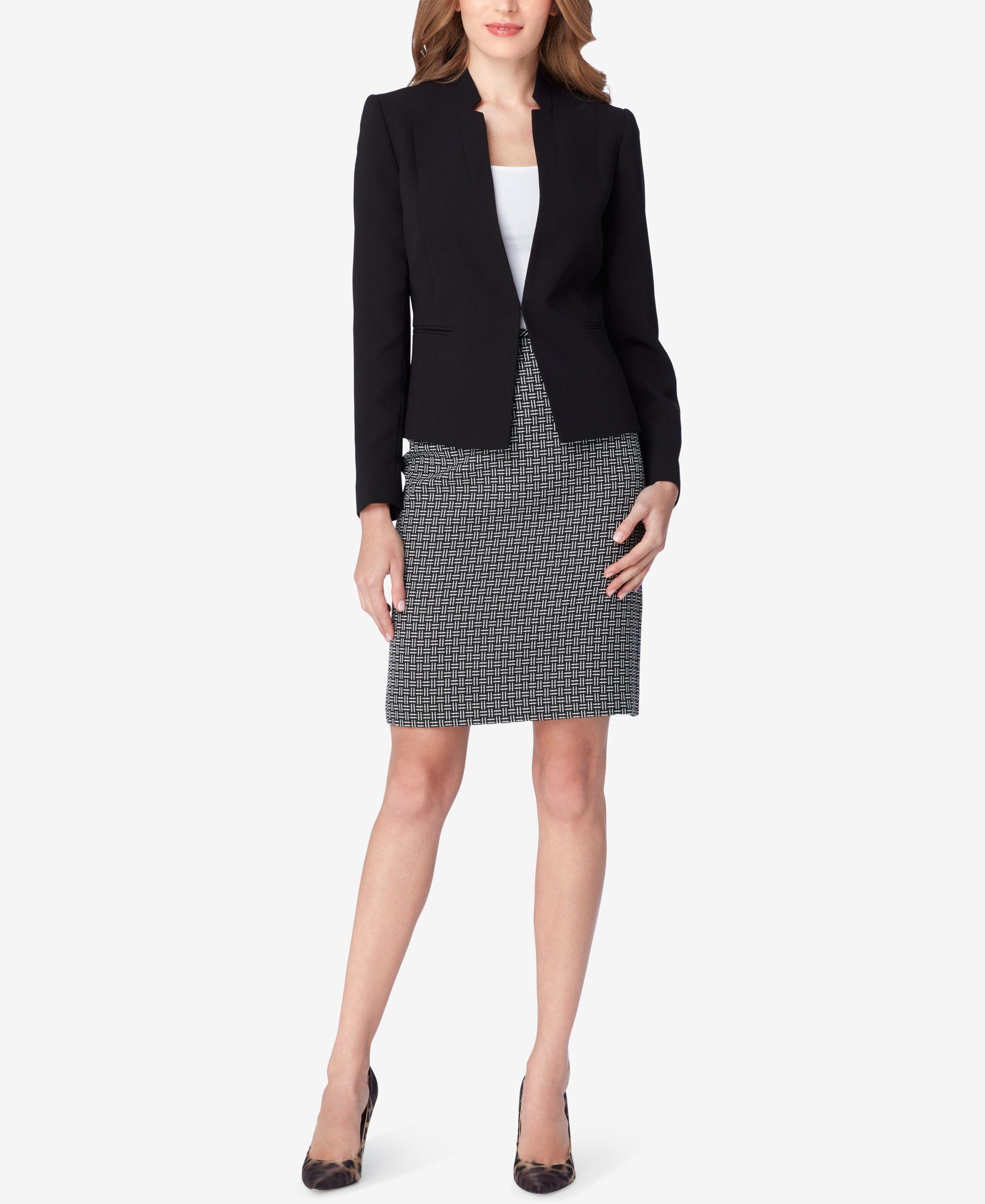 bc1811edf2 Tahari Asl Colorblocked Printed Skirt Suit | Products | Printed ...
