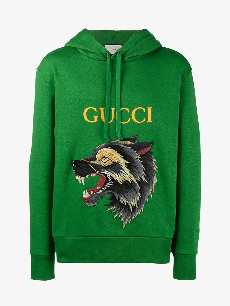 8e25aa11ad73e7 GUCCI WOLF PRINT HOODIE.  gucci  cloth   Cotton Hoodies