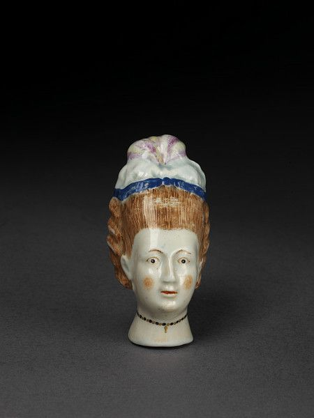 Cane handle | Lowestoft porcelain factory | ca. 1775-1780