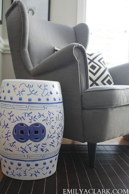 I wanted to show you where my Sharpie'd garden stool landed. I've mentioned before that I love the idea of actually using every square inch of your house. While I don't think every corner has to be decorated, there was just enough space in this corner of my office to carve out a little …