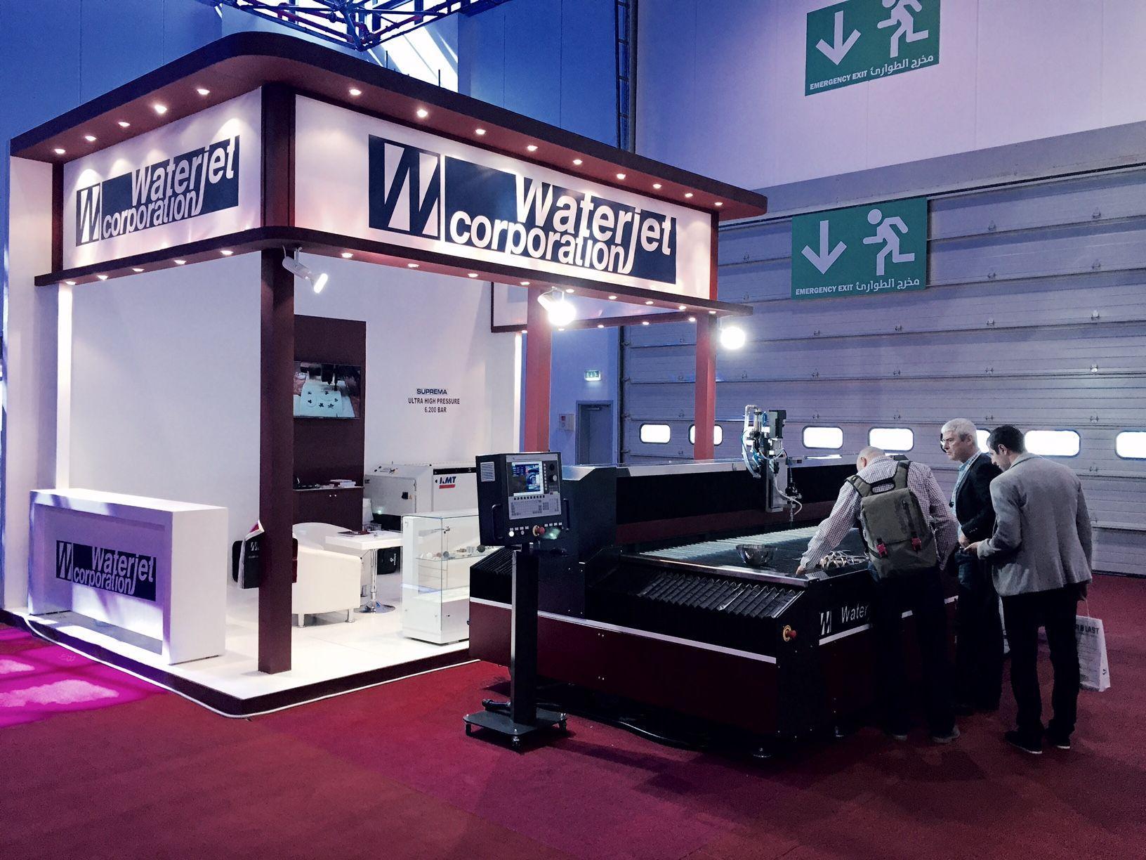 Waterjet Machine Suprema DX 510 at Steel Fab Show 2015 Sharjah UAE