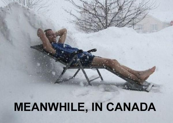 Funny Memes For Winter : Snow meme being canadian i can appreciate how things are a bit