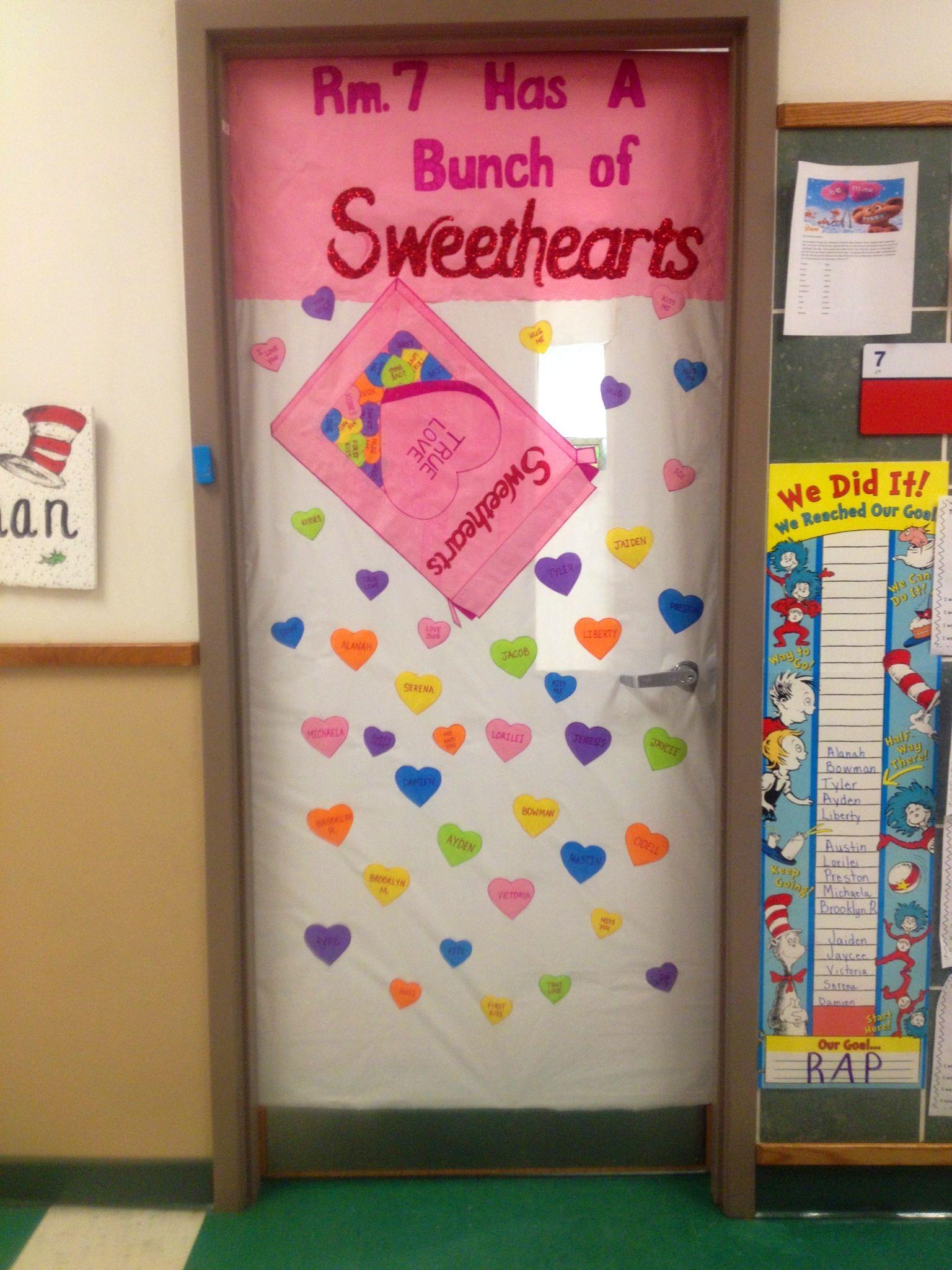 Valentine Door Decoration Ideas My Valentines Door For My Classroom Room 7 Has A Bunch Of