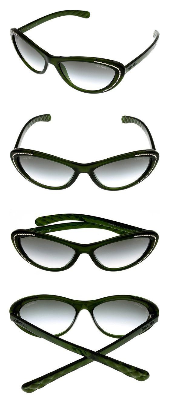 Chanel Sunglasses Women Green CH6039 1420S3 Cateye #apparel #eyewear ...
