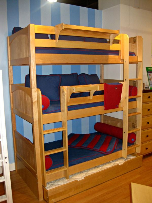 Triple Bunk Beds You Can Also Stack The Three And Create Another