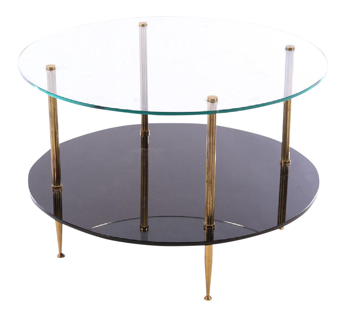 1950s French Mid Century Glass Top Coffee Table On Chairish Com Coffee Table Glass Shelves In Bathroom Circular Coffee Table [ 1018 x 1110 Pixel ]