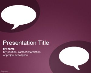 Chat powerpoint template is a nice and clean powerpoint template chat powerpoint template is a nice and clean powerpoint template that you can use for discussions toneelgroepblik Choice Image