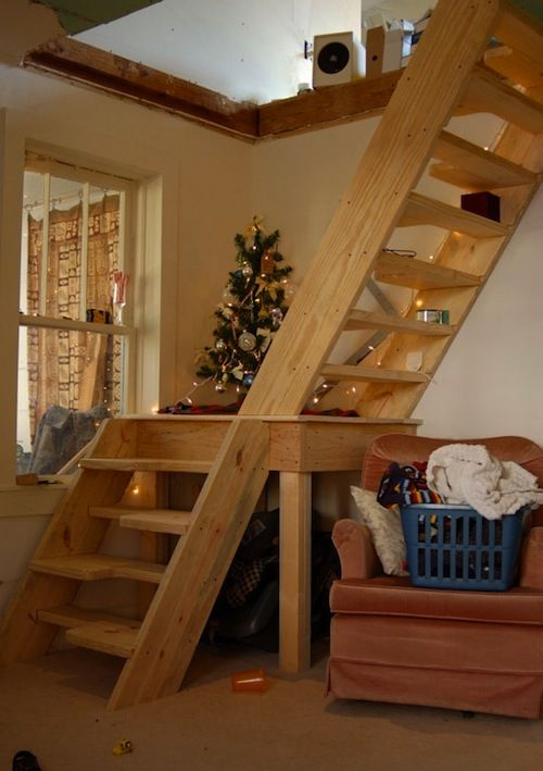 Stair Box In Bedroom: Stairs Could Come Over The Master Bedroom Door And End In